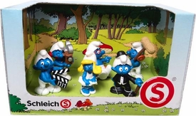 Schleich The Smurfs Mini Figure 6-Pack Set #41246 Making A Movie