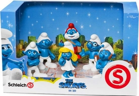 The Smurfs Movie Scenery Box Set [Smurfette, Clumsy, Papa Smurf, Grouchy, Brainy Smurf & Gutsy]