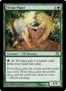 Magic the Gathering Tenth Edition Single Card Rare #262 Elvish Piper