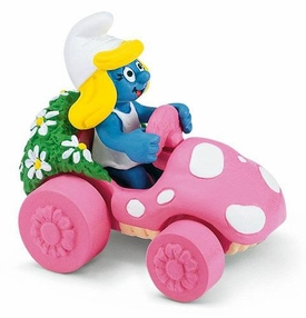 Schleich The Smurfs Mini Figure Smurfette in Car