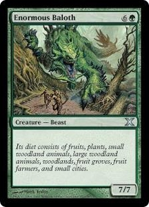 Magic the Gathering Tenth Edition Single Card Uncommon #263 Enormous Baloth