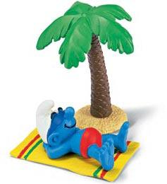 Schleich The Smurfs Mini Figure Smurf on Holiday