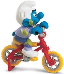 Schleich The Smurfs Mini Figure Biker Smurf