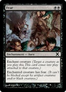 Magic the Gathering Tenth Edition Single Card Common #142 Fear