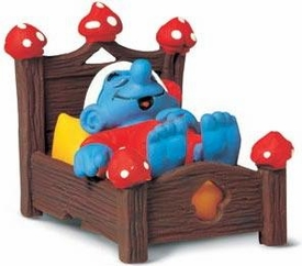 Schleich The Smurfs Mini Figure Smurf in Bed