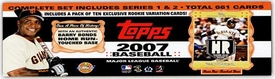Topps MLB 2007 Baseball Cards Complete Hobby Factory Sealed Set (BARRY BONDS EDITION)