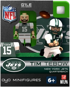 OYO Football NFL Building Brick Minifigure Tim Tebow [New York Jets]