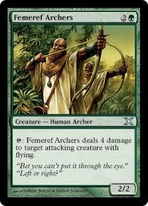 Magic the Gathering Tenth Edition Single Card Uncommon #264 Femeref Archers