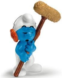 Schleich The Smurfs Mini Figure Sound Technician Smurf