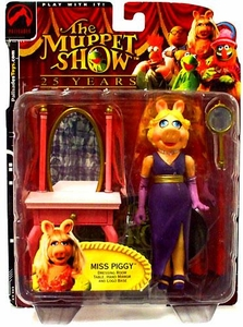 The Muppets Series 1 Action Figure Miss Piggy [Purple Dress]