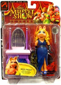 The Muppets EB Exclusive Action Figure Miss Piggy [Blue Dress]