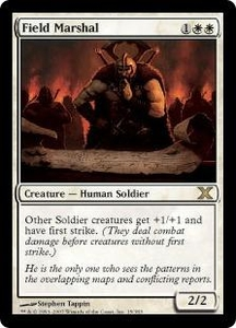 Magic the Gathering Tenth Edition Single Card Rare #15 Field Marshal