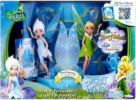 Disney Fairies Secret of the Wings Playset Tink & Periwinkle's Light Up Surprise