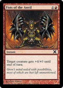 Magic the Gathering Tenth Edition Single Card Common #201 Fists of the Anvil