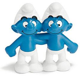 Schleich The Smurfs Mini Figure Gemini Smurf