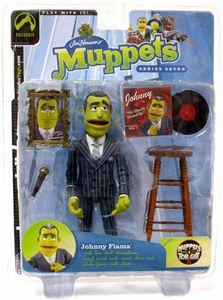 The Muppets Series 7 Action Figure Johnny Fiama [Pinstripe Suit]