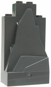 LEGO Terrain LOOSE Base Gray Sloping Rock [2 x 4]