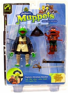 The Muppets Series 7 Action Figure Kermit as Captain Abraham Smollet