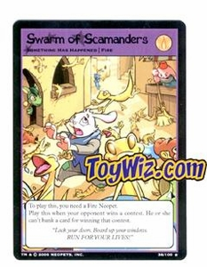 Neopets Trading Card Game Lost Desert Single Card Rare  38/100 Swarm of Scamanders