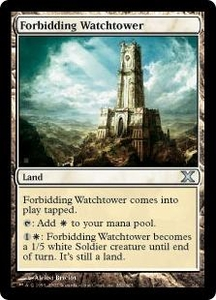 Magic the Gathering Tenth Edition Single Card Uncommon #352 Forbidding Watchtower