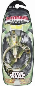 Star Wars Titanium Series Diecast Mini Kit Fisto Jedi Starfighter