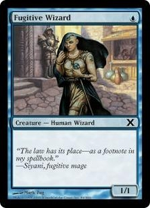 Magic the Gathering Tenth Edition Single Card Common #86 Fugitive Wizard