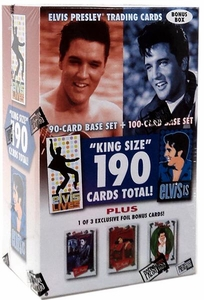 Elvis Presley Press Pass Trading Cards Elvis 'King Size' Holiday Set [190 Cards]