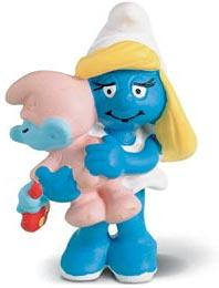 Schleich The Smurfs Mini Figure Smurfette with Baby