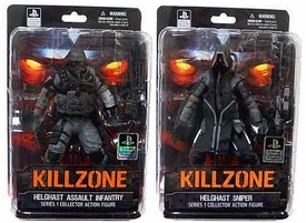 DC Direct Killzone Series 1 Set of Both Collector Action Figures [Helghast Assault Infantry & Sniper]