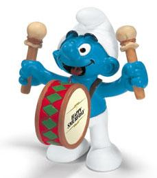 Schleich The Smurfs Mini Figure Drummer Smurf