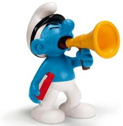 Schleich The Smurfs Mini Figure Film Producer Smurf