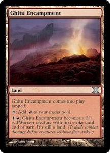 Magic the Gathering Tenth Edition Single Card Uncommon #353 Ghitu Encampment
