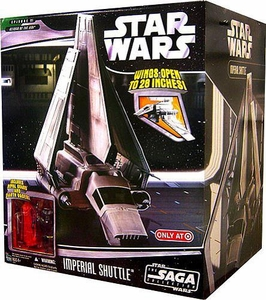 Star Wars Saga '06 Exclusive Vehicle Imperial Shuttle with Darth Vader & Red Royal Guard Action Figures