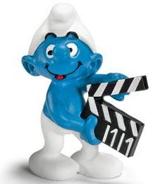 Schleich The Smurfs Mini Figure Smurf with Clapperboard