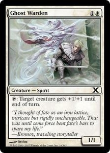 Magic the Gathering Tenth Edition Single Card Common #16 Ghost Warden