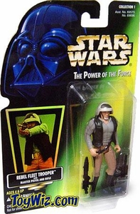 Star Wars POTF2 Power of the Force Hologram Card Rebel Fleet Trooper w/ Blaster Pistol and Rifle