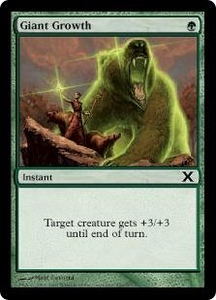 Magic the Gathering Tenth Edition Single Card Common #266 Giant Growth