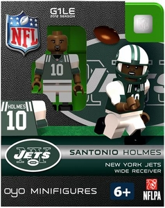 OYO Football NFL Building Brick Minifigure Santonio Holmes [New York Jets]