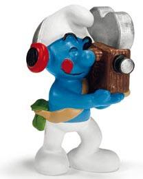 Schleich The Smurfs Mini Figure Cameraman Smurf