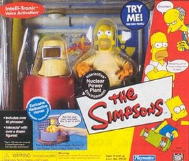 The Simpsons Series 1 Action Figure Playset Nuclear Powerplant with Radioactive Homer