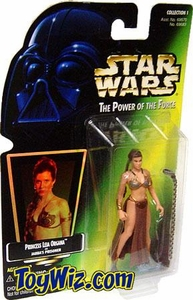 Star Wars POTF2 Power of the Force Hologram Card Princess Leia Organa as Jabba's Prisoner