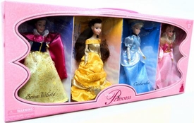 Disney Princess Exclusive 6 1/2 Inch Doll Figure 4-Pack Snow White, Belle, Cinderella & Sleeping Beauty