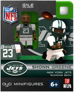 OYO Football NFL Building Brick Minifigure Shonn Greene [New York Jets]