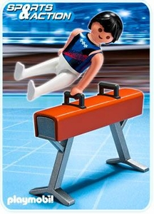 Playmobil Athletes Set #5192 Gymnast on Pommel Horse