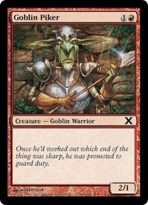 Magic the Gathering Tenth Edition Single Card Common #209 Goblin Piker
