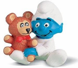 Schleich The Smurfs Mini Figure Baby with Teddy