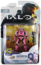 Halo 3 McFarlane Toys Series 5 [2009 Wave 2] 2009 SDCC San Diego Comic-Con Exclusive Action Figure PINK Hayabusa Spartan Soldier [Shotgun & Radar Jammer] COLLECTOR'S CHOICE!