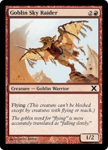 Magic the Gathering Tenth Edition Single Card Common #210 Goblin Sky Raider