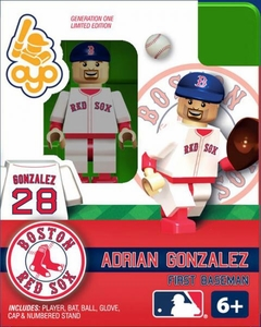 OYO Baseball MLB Building Brick Minifigure Adrian Gonzalez [Boston Red Sox]