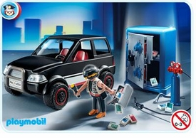 Playmobil Police Set #4059 Thief with Safe and Getaway Car